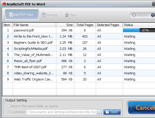 PDF to Word screenshot 2